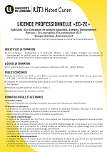 Licence Professionnelle Eco-Conception, Eco-Construction